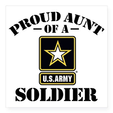 Proudarmyaunt Sticker Square Proud U S Army Aunt Square Sticker 3 X 3 By Magarmor Cafepress Army Mom Army Sister Quotes Army Sister