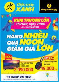 Khai Trương Siêu thị Điện máy XANH 110 Hà Duy Phiên, Củ Chi