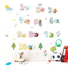 Nursery Kids Room Wall Decal Adorable Numbers 1 10 Kneebees