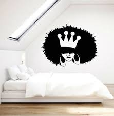 Vinyl Wall Decal African Hairstyle Girl Queen Crown Stickers 3362ig Ebay