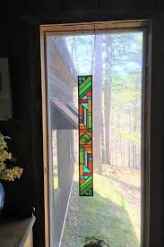 springtime garden colors stained glass