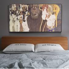 Unframed Printed Poster Gustav Klimt Beethoven Frieze Classic Canvas Modern Oil Art Home Wall Decal Wish