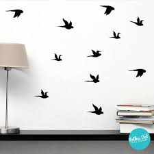 Small Flying Birds Wall Decal Peel And Stick Polka Dot Wall Stickers