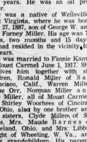June 1, 1917 - Married: George Wells Miller and Fannie Kamp - Newspapers.com