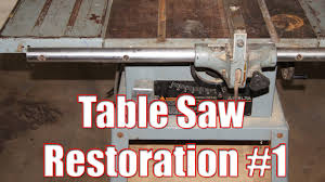 Table Saw Restoration Part 1 Youtube