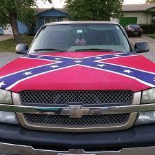 rebel flag hood cover
