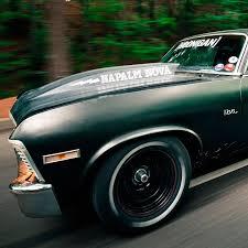 Buy 2x Pair Napalm Nova Hoonigan 1972 Chevrolet Ss Stance Racing Drift Muscle Car Ken Block Vinyl Sticker Decal