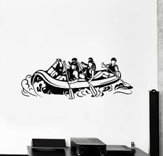 Vinyl Wall Decal Extreme Rafting Alloy Kayak Sports Rowing Stickers G1527 Ebay