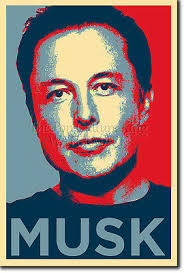 elon musk photo print poster obama hope tesla motors