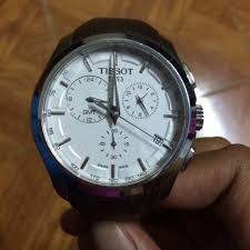 tissot leather strap watch t035 men s