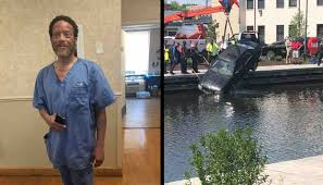 Minutes Before Going into Work, Nursing Home Staffer Dives into River to  Save Driver From Sinking Car