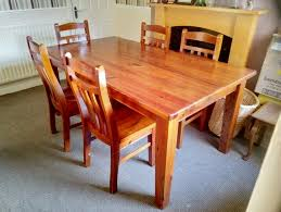 solid pine dining table chairs in