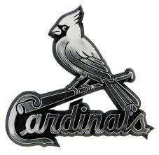 St Louis Cardinals Auto Emblem Silver Sports Fan Shop