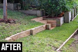 build a retaining wall in the backyard