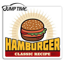 Jump Time For Classic Hamburger Vinyl Stickers Retro Fast Food Diner Sticker Car Decal Window Wiper Trunk Car Styling Car Stickers Aliexpress
