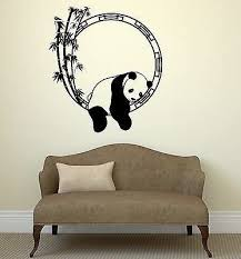 Amazon Com V Studios Wall Decal Funny Animal Panda Bamboo Japanese Decor Vinyl Stickers Vs2917 Home Kitchen