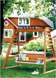 free wooden porch swing plans a frame