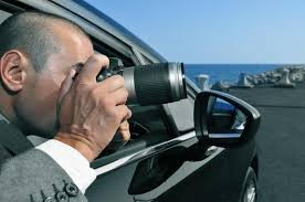 Detective Or Paparazzi Taking Photos From Inside A Car Wall Decal Wallmonkeys Com