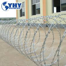 China Hot Dipped Galvanized Cross Type Bto22 Razor Barbed Wire Fence China Razor Barbed Fence Razor Barbed Tape