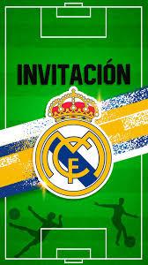 Tarjeta De Invitacion Digital Real Madrid Con Foto En 2020