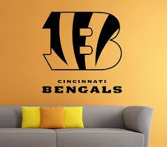 Cincinnati Bengals Wall Vinyl Decal Nfl Sticker Emblem Football Team Logo Sport Home Interior Removable Decor Formtech Inc Com