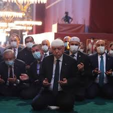 Erdoğan leads first prayers at Hagia Sophia museum reverted to ...