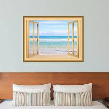 East Urban Home Beach Nature Scene Window Wall Decal Reviews Wayfair