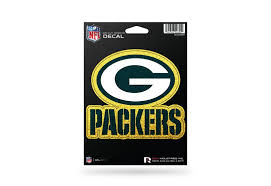 Green Bay Packers Color Glitter Bling Sticker Decal Medium Die Cut