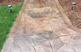 outdoor patio stamped concrete