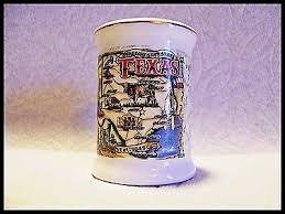 shot glass parchment map of texas with