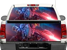 Product Halo Master Chief Warrior Weapon Rear Window Or Tailgate Decal Sticker Pick Up Truck Suv Car