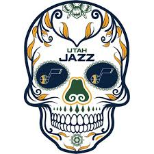 Nba Utah Jazz Small Outdoor Skull Decal Target