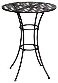 black wrought iron outdoor bistro patio