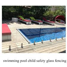 Swimming Pool Child Safety Glass Fencing 12mm Toughened Glass Child Safety Pool Fence
