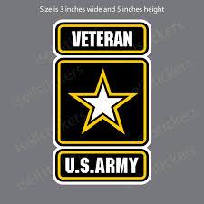 Army Veteran Retired Military Bumper Sticker Vinyl Window Decal