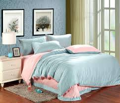 luxury pink blue bedding set sheets