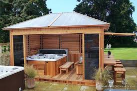 Some Of The Hot Tub Spa Enclosures Built With The Flex Fence Hardware Kit Include A Louvered Cedar Spa Enclosure And An Arbour With Louvered Wall Design Bookmark 25066