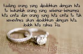 cinta dan jodoh wedding quotes