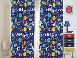 Amazon Com Bedding Haus Kids Curtain Set 2 Panels Multi Color Universe Outer Space Planets Design 84 Length Fun And Bright Kids Room Window Decor Curtain Space Kitchen Dining