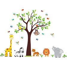 Nursery Wall Decal Jungle Decal Kids Wall Decal Kids Room Wall Decal Tree Wall Decal Gender