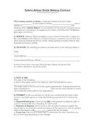 wedding makeup contract pdf