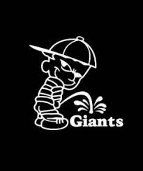 Calvin Piss On New York Giants Vinyl Decal Stickers Sticker Flare Llc