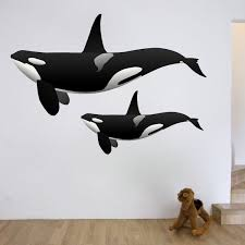Orca Whale Wall Decal Animal Wall Decal Murals Primedecals