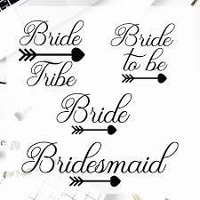 4pcs Set Bride Tribe Stickerstumbler Decals Sticker Cup Window Viny Bridesmaid Decal Bachelorette Vinyl Art Stickers T180868 Wall Stickers Aliexpress