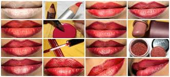 how to makeup lips step by step