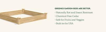 Amazon Com Greenes Fence 48 Inch X 96 Inch Cedar Raised Garden Bed Garden Outdoor