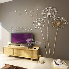 3d Wall Stickers For Bedrooms Mirror Kids Acrylic Dandelion Creative Decoration