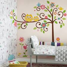 Owl Wall Decals Canada Uk For Girl Nursery Art Kitchen Realistic Whimsical Brown Vamosrayos