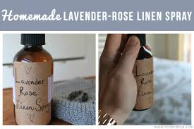 homemade lavender rose linen spray
