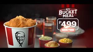 kfc bucket meal you
